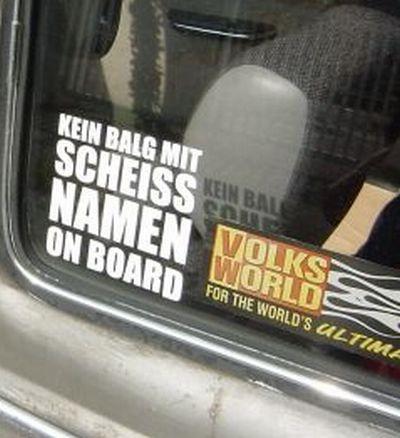 Kein Balg an Board