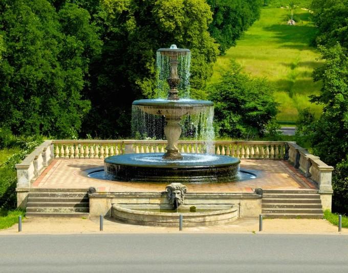 Der Rossbrunnen am Schloss Sanssouci.