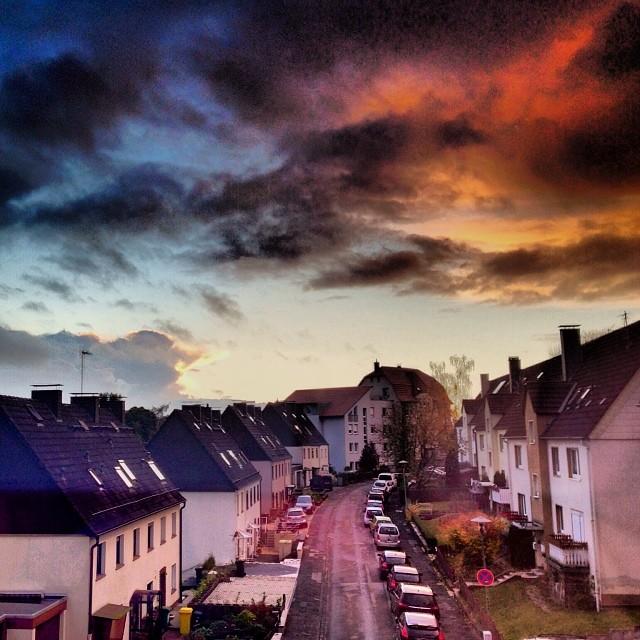 Sonnenuntergang in Lüdenscheid