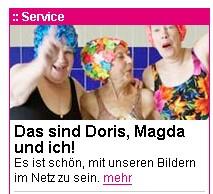 Doris, Magda und ich